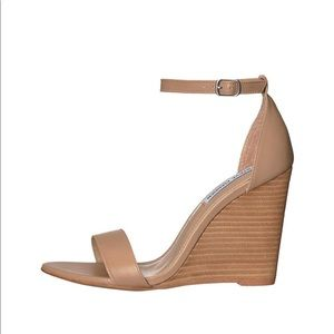 Steve Madden Mary Wedge Natural Leather size 7